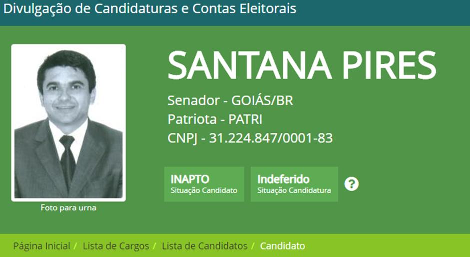 Candidatura de Santana Pires é indeferida pelo TRE-GO