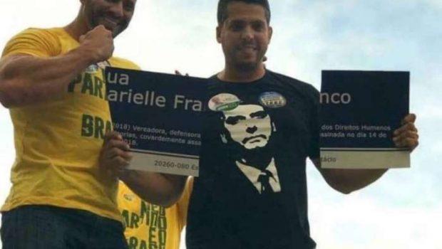 Candidatos do PSL destroem placa com homenagem a Marielle Franco no Rio