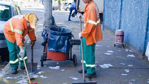 Prefeitura de Goiânia reforça atividades de limpeza neste domingo de eleições