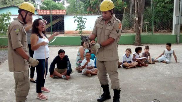Bombeiros capturam jiboia em horta escolar, em Goiânia