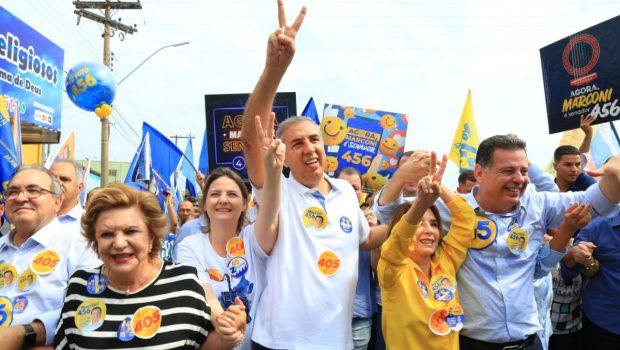 """""""Viemos a Trindade para agradecer e renovar nosso compromisso com Goiás"""", afirma Marconi na capital da fé"""