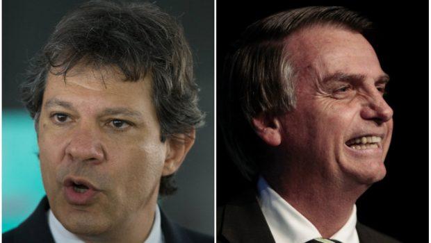 Na estreia de horário eleitoral, Bolsonaro ataca PT; Haddad ignora Lula