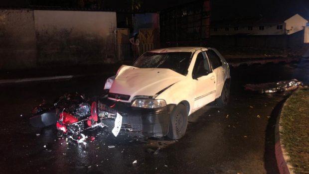 Motociclista morre após bater em carro no Jardim Europa, em Goiânia