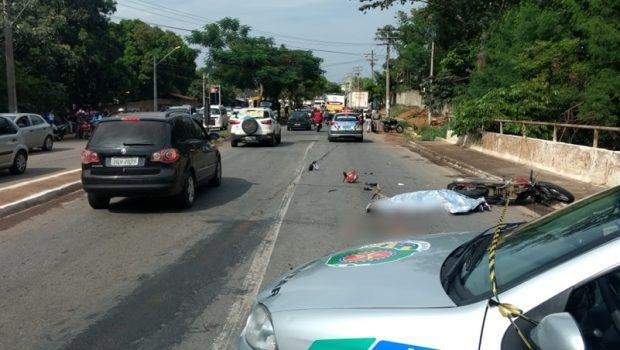Motociclista morre após bater em ônibus no Jardim Novo Mundo, em Goiânia