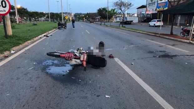 Colisão entre motos deixa um morto e dois feridos na GO-070, em Goiânia