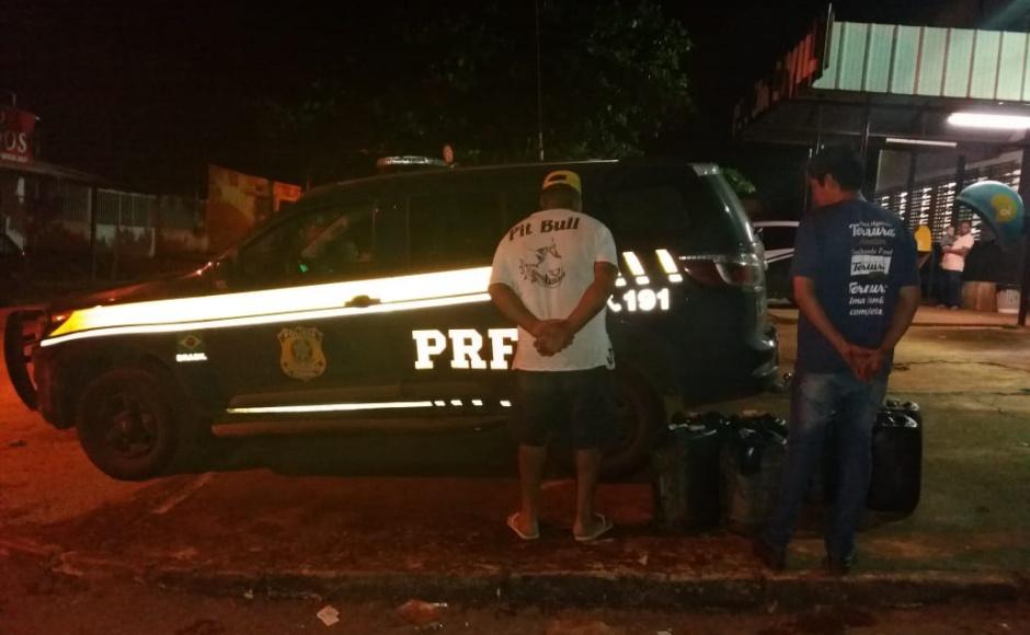 Dois homens são presos por comércio ilegal de combustíveis em Alexânia
