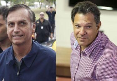 Bolsonaro tem 57% e Haddad registra 43% dos votos válidos, diz pesquisa CNT/MDA