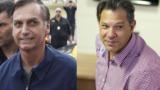 Datafolha: Bolsonaro tem 56% dos votos válidos e Haddad, 44%