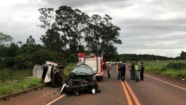 Acidente na GO-210 deixa uma pessoa morta e três feridas, em Rio Verde