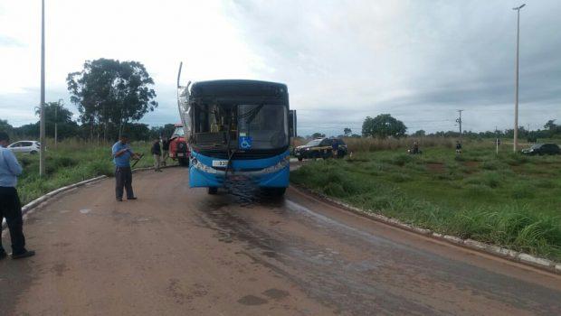 Caminhão colide com ônibus na BR-070, próximo ao DF