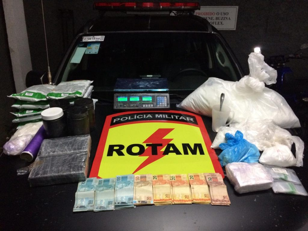 Rotam fecha laboratório de cocaína no Jardim Novo Mundo, em Goiânia