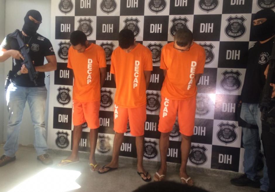 Presos três suspeitos de vários assassinatos em Goiânia