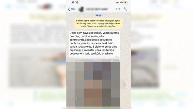 Mensagens de violência e cunho de ameaça a gays são enviadas ao Mais Goiás