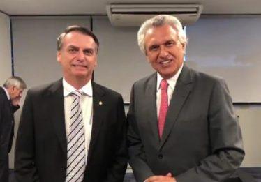 Ronaldo Caiado e Bolsonaro discutem dificuldade dos estados