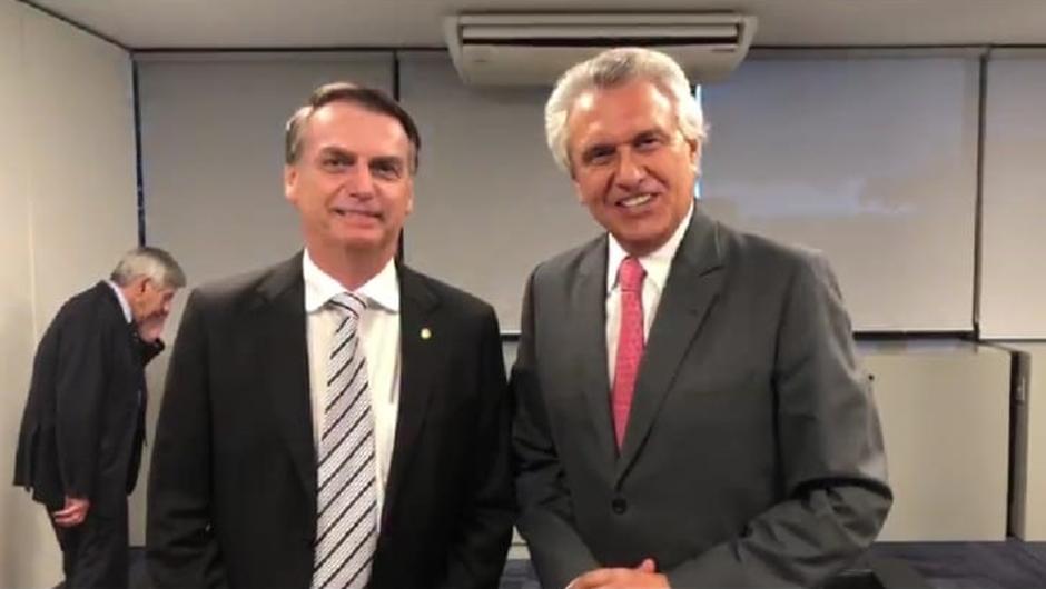 Resultado de imagem para Caiado e Bolsonaro