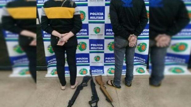 Suspeito de furtos em comércios, casal é preso em flagrante em Anápolis