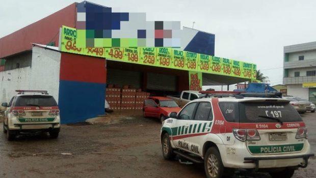 Supermercado é fechado por comercializar mercadoria roubada em Luziânia