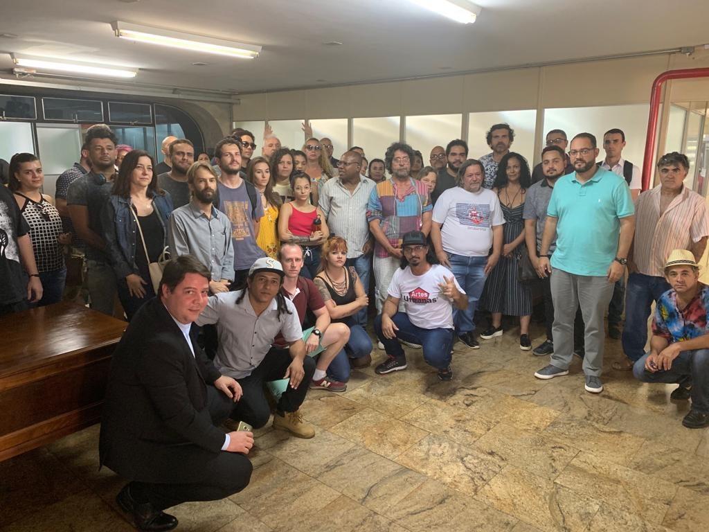 Artistas e produtores culturais voltam ocupar a Sefaz para cobrar repasses do Fundo de Cultura