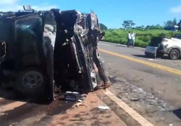 Homem morre em acidente entre três veículos na BR-153, em Rialma