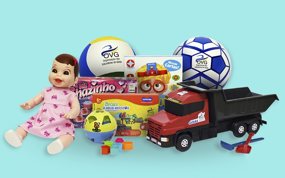 OVG distribui brinquedos do Programa Show de Natal em Goiânia