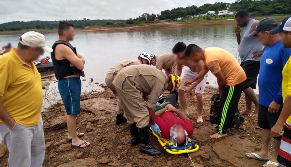 Polícia Civil vai apurar possíveis sutuações criminais que culminaram na queda de helicóptero, em Caldas Novas (Foto: Bombeiros de Goiás)