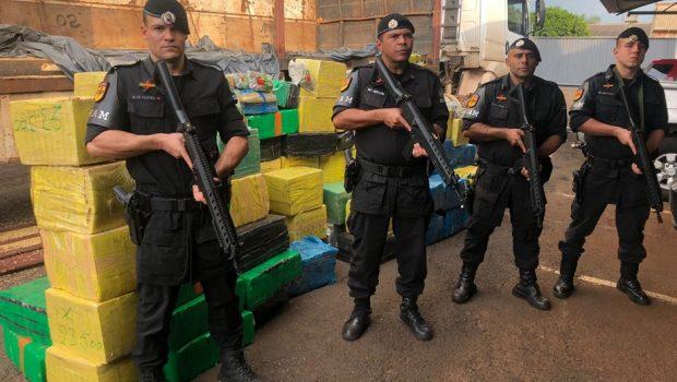 PM apreende mais de duas toneladas de maconha, em Jataí