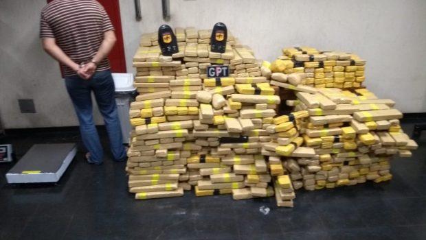 Homem é preso com 600 quilos de maconha em Novo Gama