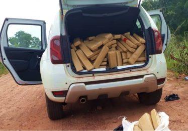 Ação integrada da Polícia Militar de Goiás apreende 500kg de maconha