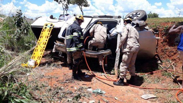 Acidente na GO-346 deixa 4 pessoas feridas em Cabeceiras de Goiás