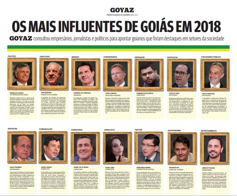 Editora do Mais Goiás é a jornalista mais influente do estado em 2018, diz jornal