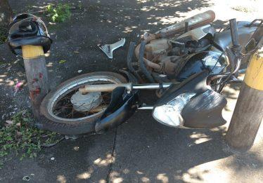 Motociclista fica gravemente ferido em acidente no Jardim América, em Goiânia