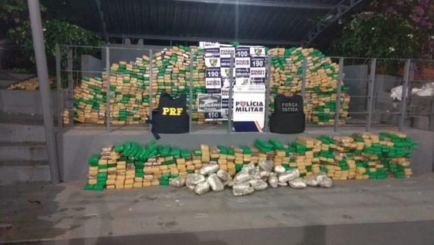 Com 1,3 tonelada de maconha, caminhoneiro de Goiânia é preso na BR-070, no MT