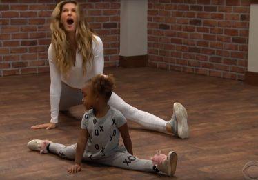 Vídeo mostra Gisele Bündchen em aula de dança dada por crianças