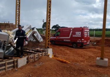 Dois homens morrem em queda de estrutura metálica em Silvânia