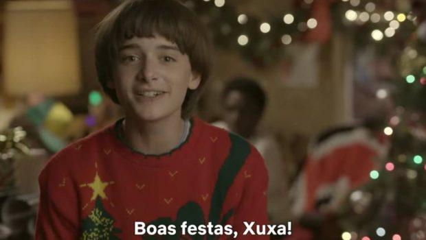 Will, de 'Stranger Things', manda recado e presente de Natal para Xuxa