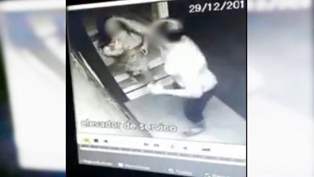 Imagens de agressões contra mulher no elevador foram encontradas por acaso, segundo síndico