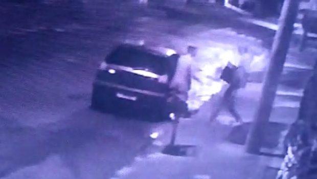 Câmeras gravam ladrões em ação na virada do ano, em Goiânia