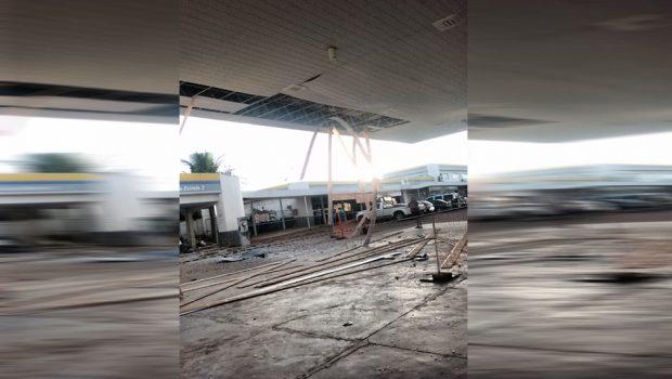 Bandidos explodem cofre de posto de combustíveis em Luziânia