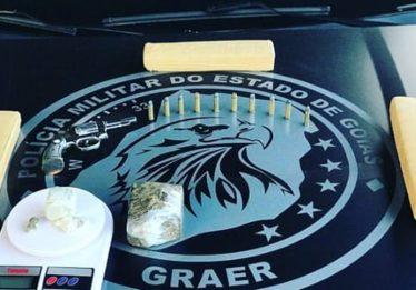 Suspeito de tráfico de drogas morre após trocar de tiros com policiais do Graer, em Goiânia