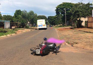 Mulher morre em acidente envolvendo moto e ônibus no Parque Buriti, em Goiânia