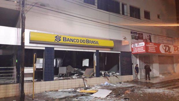 Bandidos explodem agência bancária em Bela Vista de Goiás