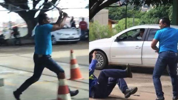 Homem que agrediu vítima com barra de ferro em Anápolis se apresenta à polícia