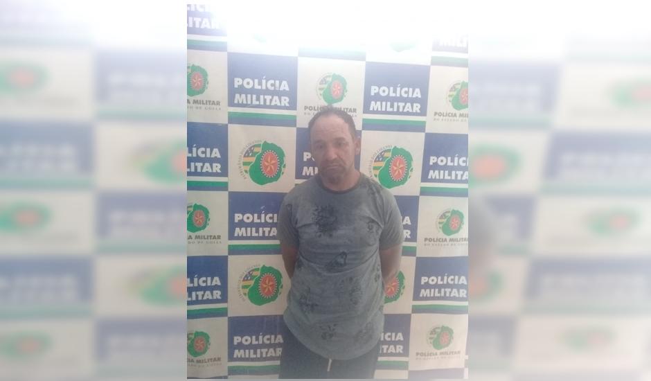 Parsilon Lopes dos Santos, de 45 anos, preso pela Polícia Militar, suspeito em morte de motorista de aplicativo (Foto: PM-GO)