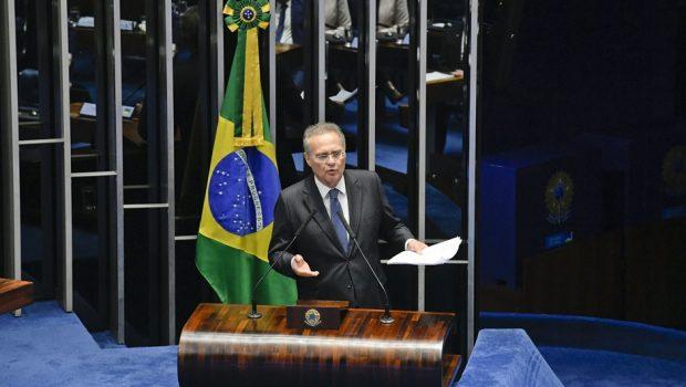 Renan retira sua candidatura à Presidência do Senado