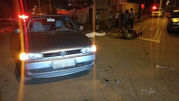 Motociclista morre após batida com carro no Jardim Petrópolis em Goiânia