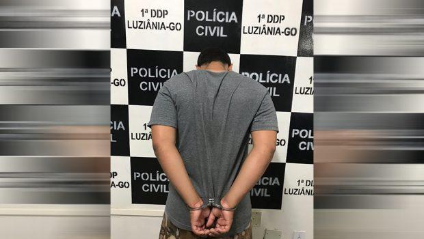 Jovem é preso suspeito de comprar carga roubada e revender produtos para comércios de Luziânia