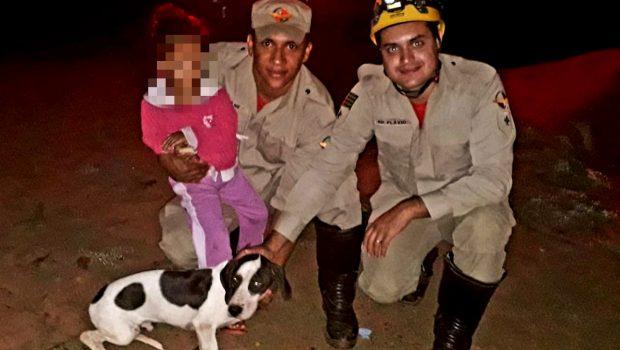 Após 8h perdida, bombeiros resgatam criança de três anos em mata fechada