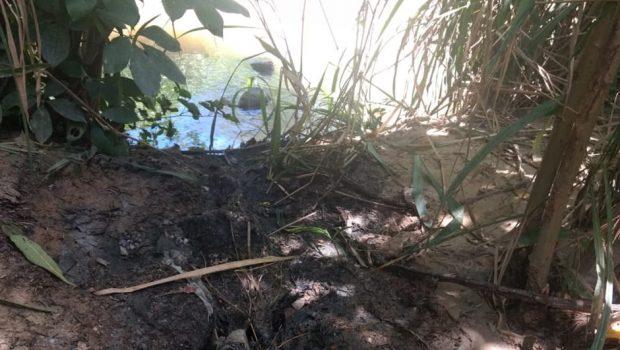 Moradores denunciam poluição do Rio Bacalhau, na Cidade de Goiás