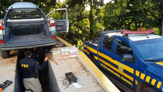 PRF apreende carga de cocaína avaliada em mais de R$ 1 milhão, naBR-364