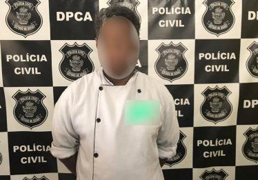 Chefe de cozinha é preso suspeito de aliciar crianças e adolescentes nas redes sociais, em Caldas Novas